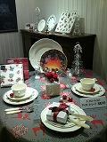 ジアンブテックハービス大阪店12月のテーブルコーディネート1