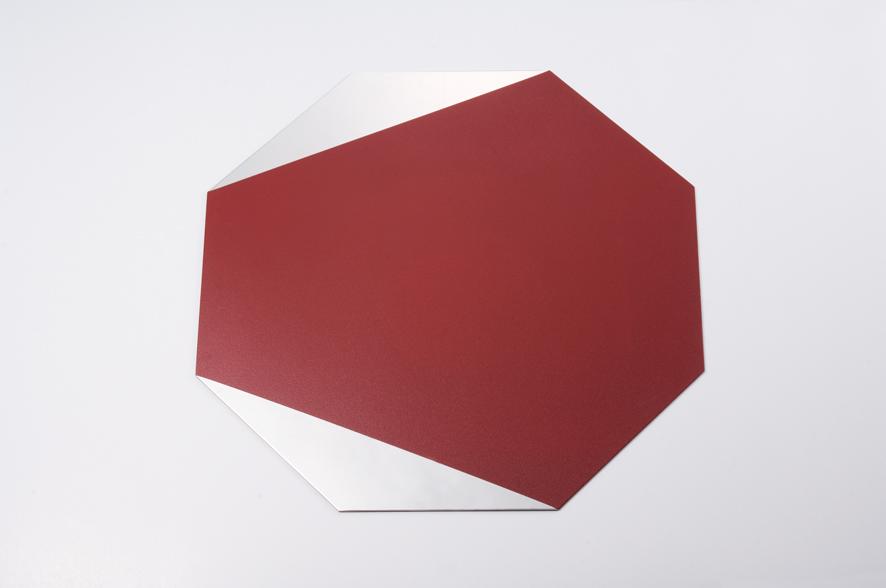 八角トレー 赤