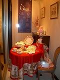 ハービス大阪のフランス洋食器メーカージアンブテック大阪で桜をテーマにコーディネート1