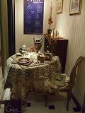 ハービス大阪のジアンブティクで1月のテーブルディスプレー2